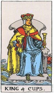 King of Cups Rider Waite Tarot.