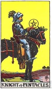Knight of Pentacles RIder Waite MyWanderingFool Tarot