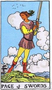 Page of Swords Rider Waite MyWanderingFool Tarot
