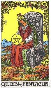 Queen of Pentacles Rider Waite MyWanderingFool Tarot