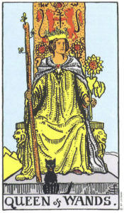 Queen of Wands Rider Waite MyWanderingFool Tarot