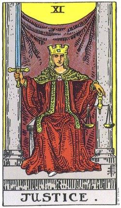 Justice Tarot Card Major Arcana 11