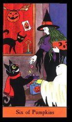Halloween Tarot Deck siz of pumpkins