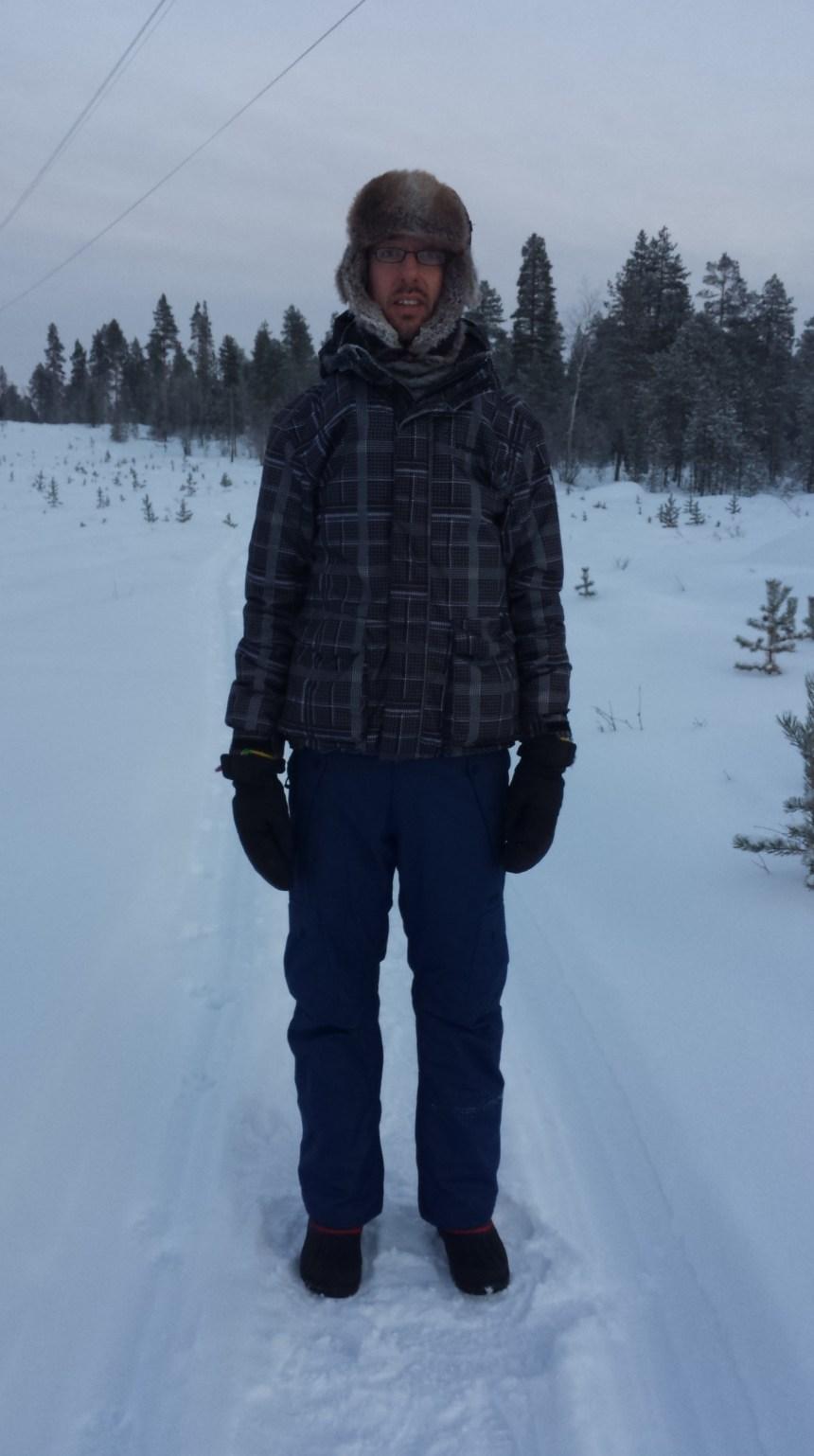 Maarten in Lapland Finland