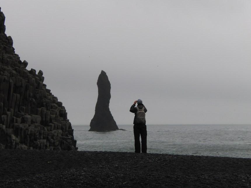 Op het strand bij Vik IJsland