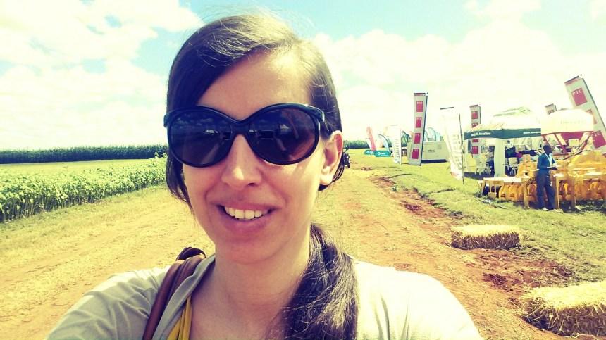 Alleen op een beurs in Zambia