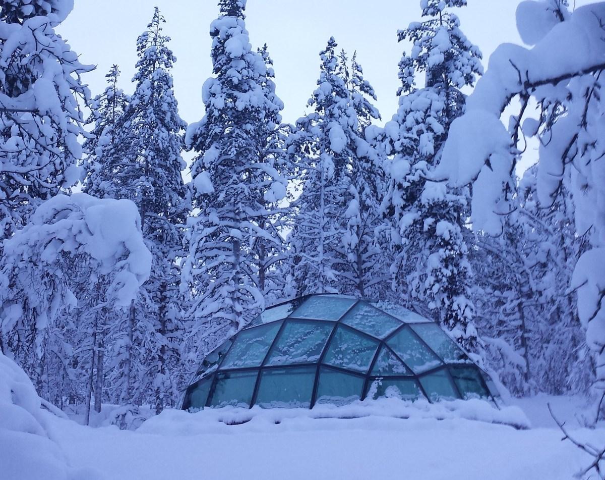Hoe is het om in Lapland in een glazen iglo te overnachten?