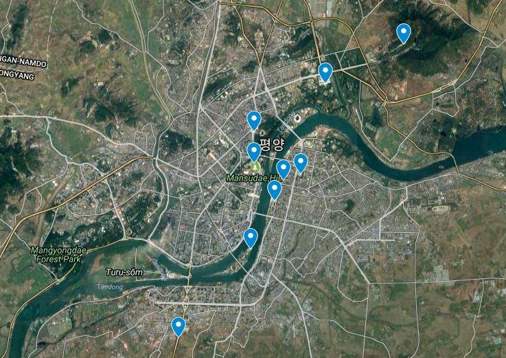 Pyongyang kaart 2
