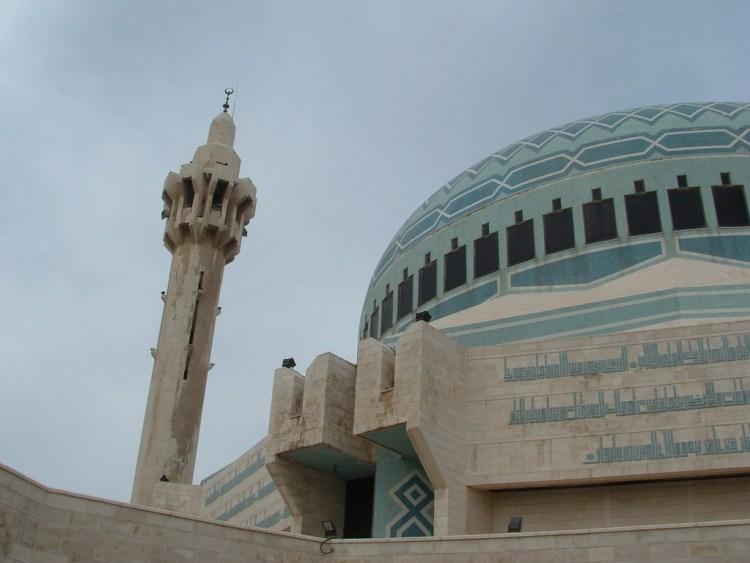 Blauwe moskee in Amman Jordanië
