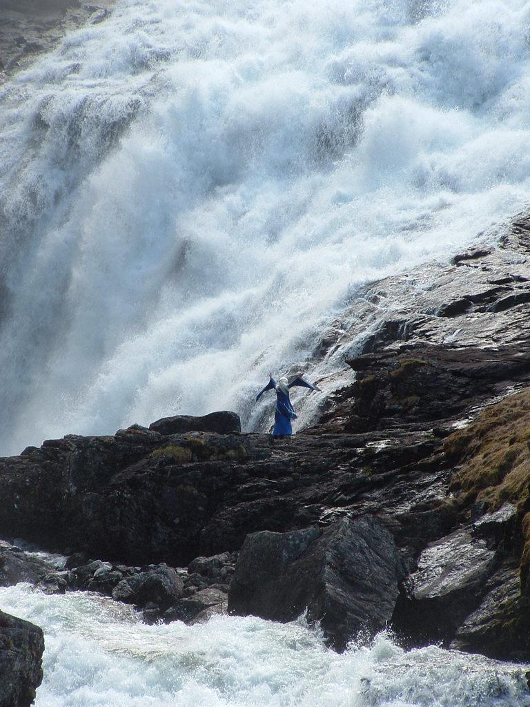 Flambane waterval Noorwegen