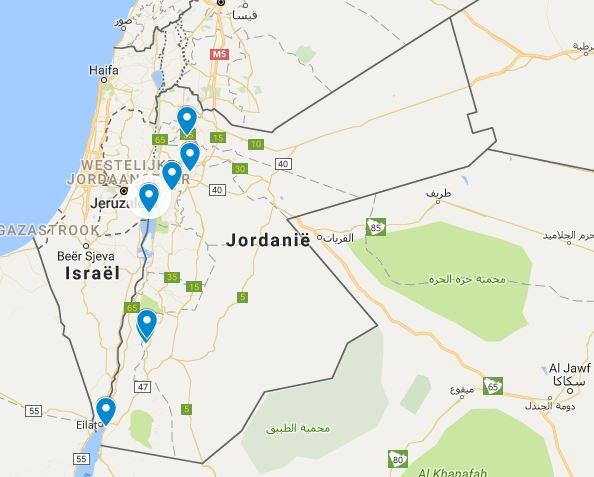Kaart Jordanie