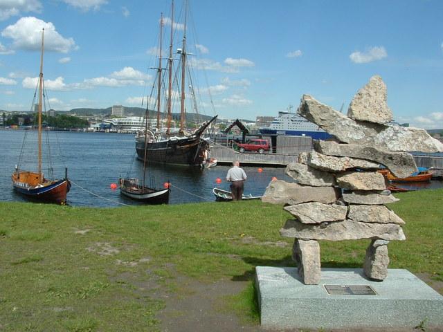 De haven Oslo Noorwegen