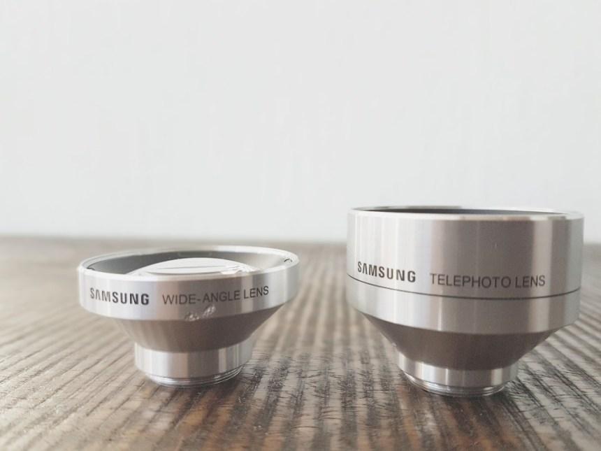 Zoomlens en wide angle lens telefoon