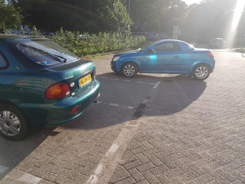 Waar ga jij heen blauw autootje?