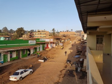 straatbeeld Meru Kenia