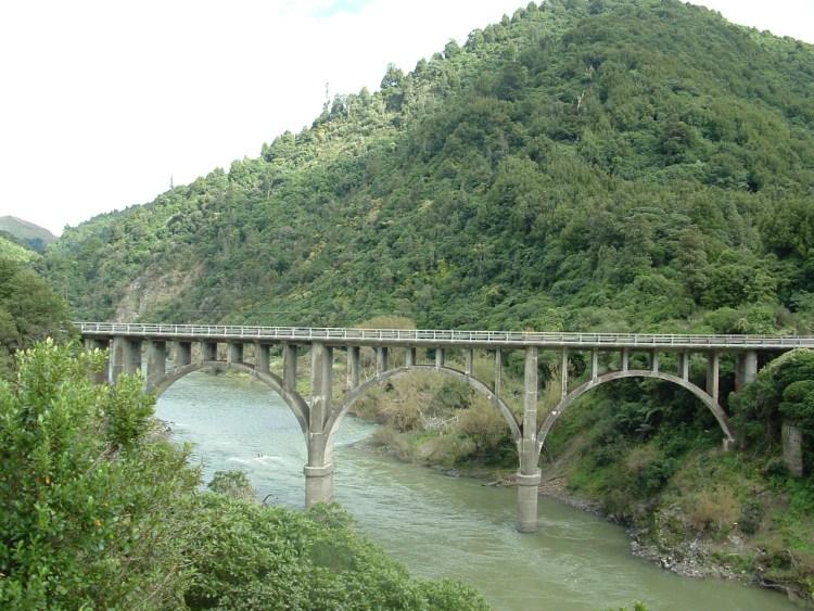 Manawatu Gorge Railway walk Nieuw Zeeland