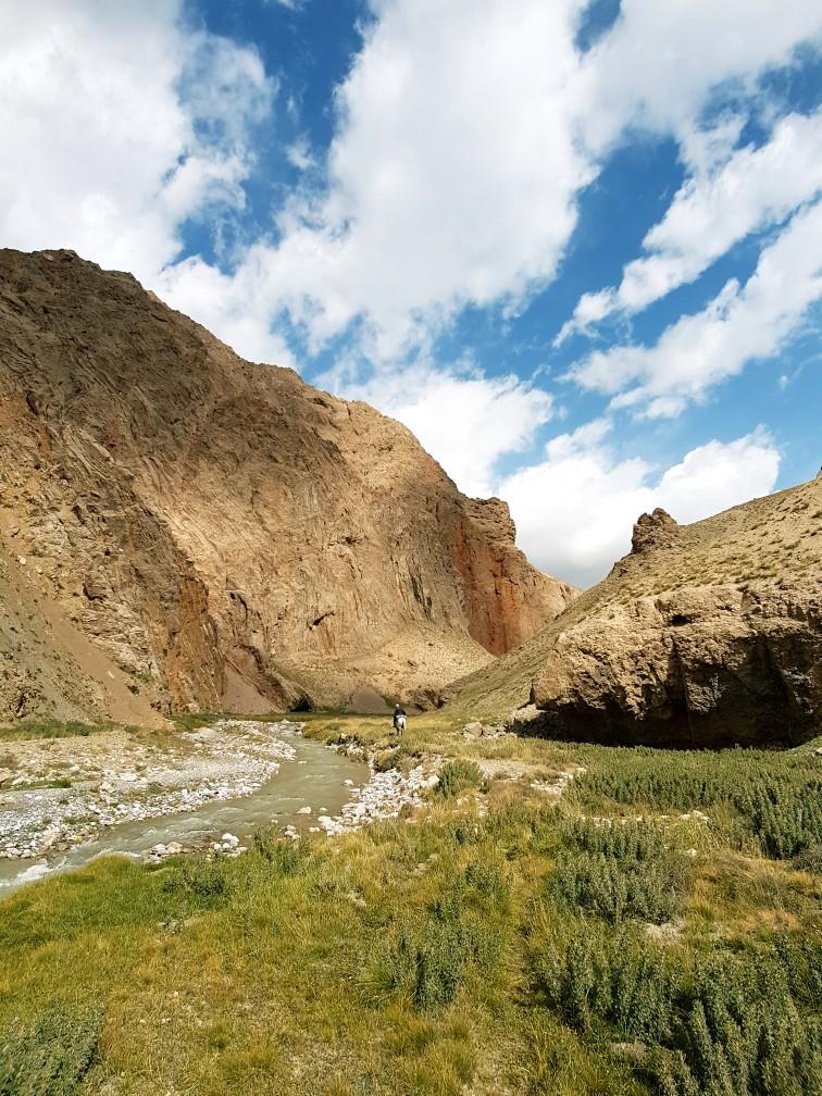 tocht te paard door Tien Shan gebergte Kirgizië Shepherds Way trekking