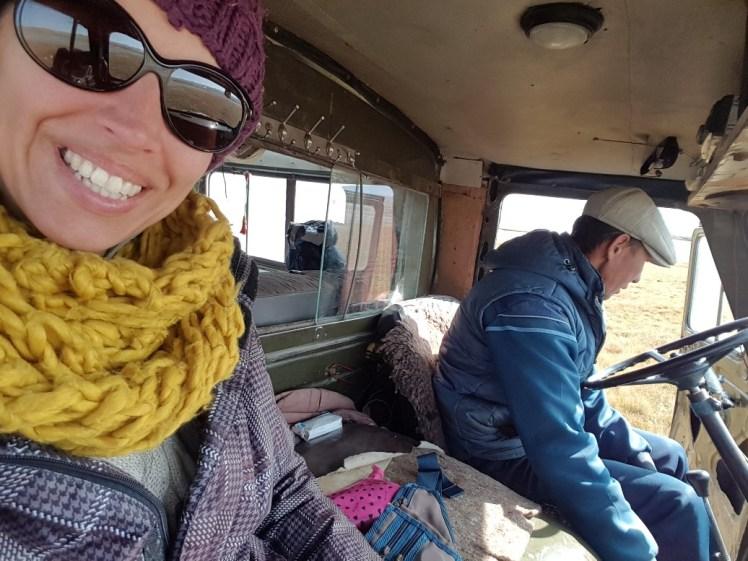 In een Russisch busje