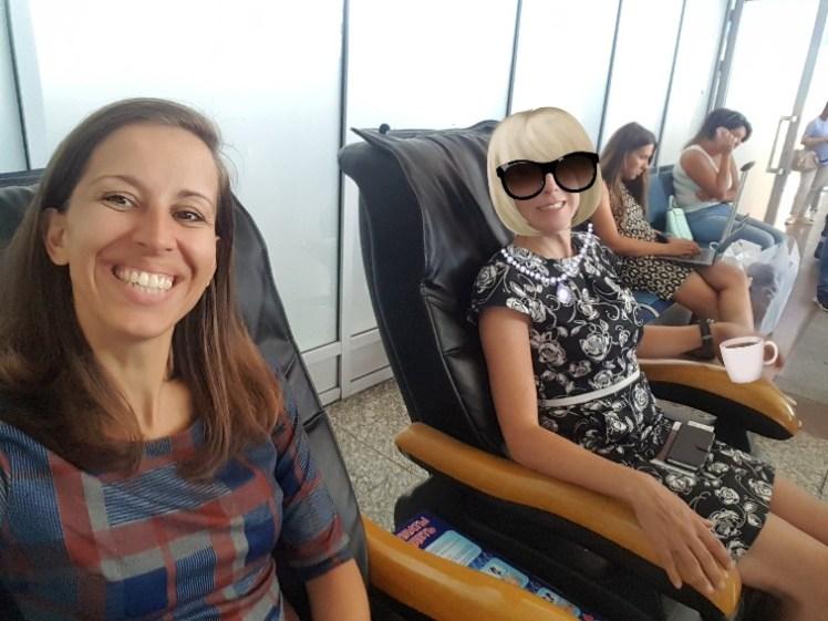 Bishkek luchthaven massagestoelen