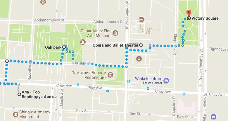 Wandeltocht Bishkek