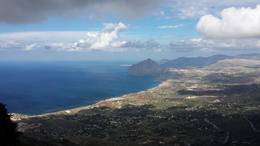 Sicilië Erice uitzicht