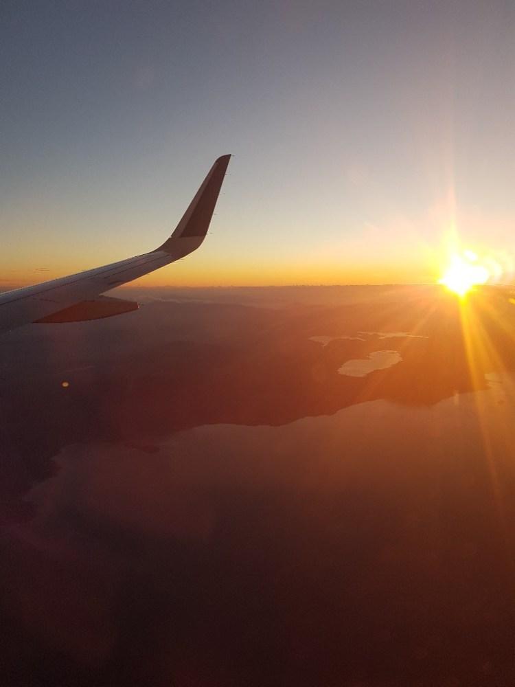 Wolken vliegen zon