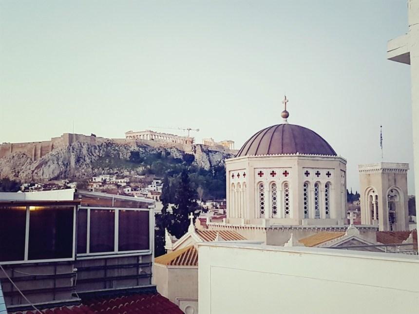 Uitzicht Athene Acropolis