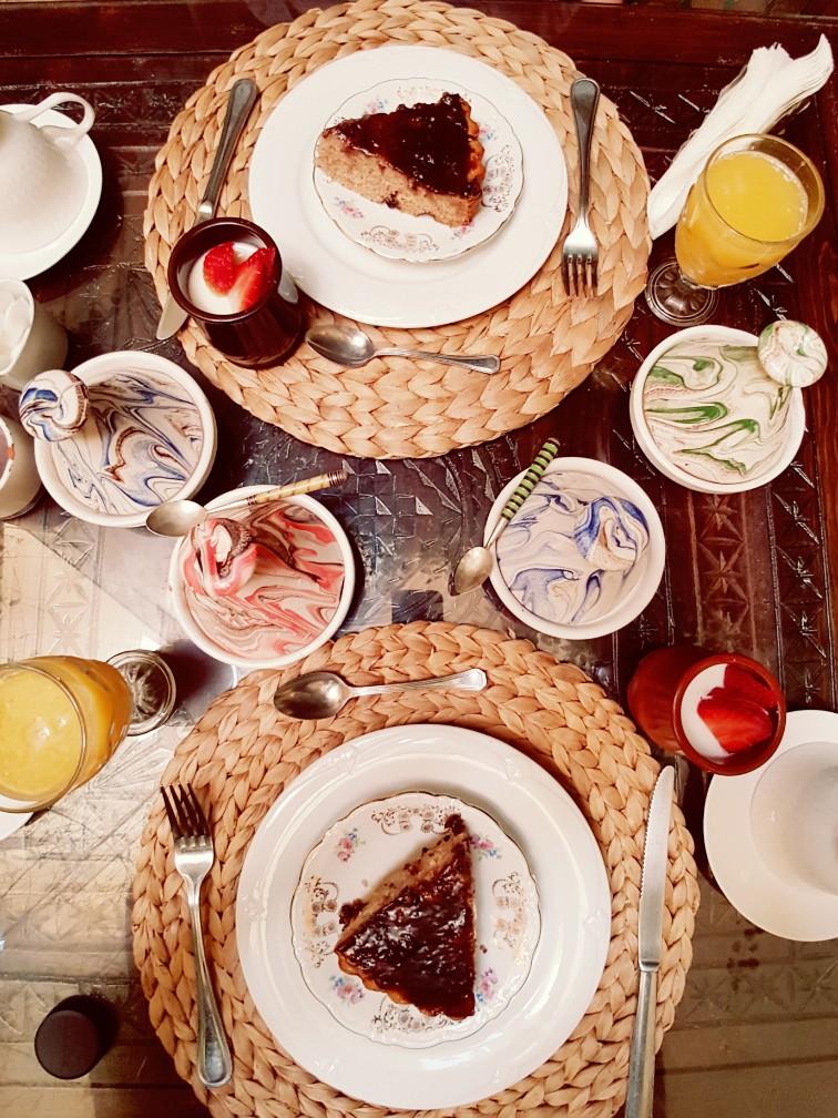Ontbijt Riad el Youssouffi Marrakesh Marokko