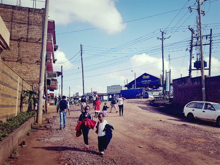 Straatbeeld Kenia Meru