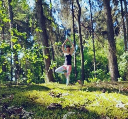 Yoga in de natuur