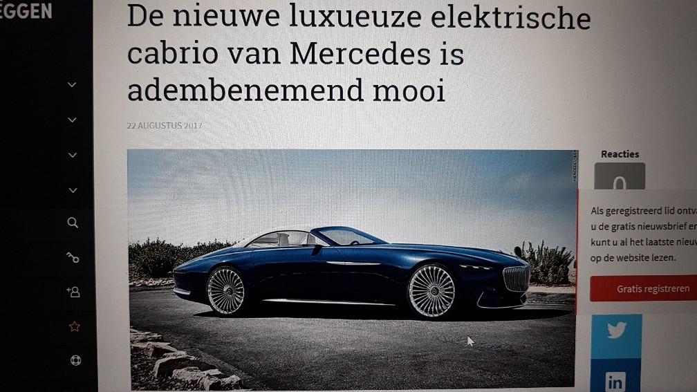 elektrische mercedes cabrio