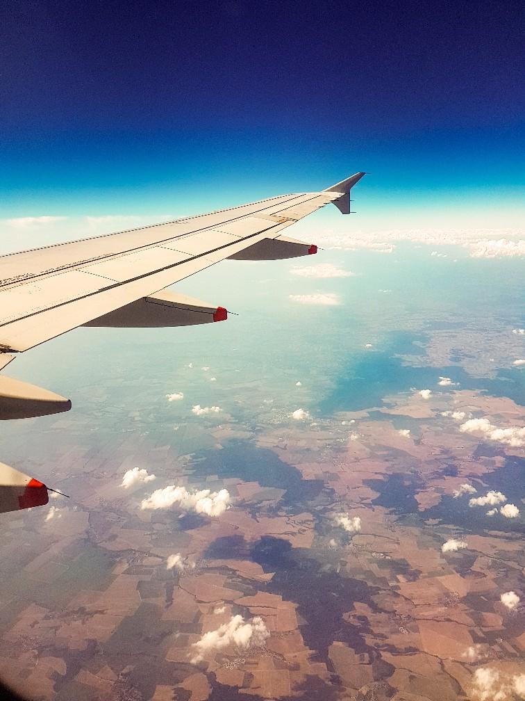 Uitzicht Roemenië vanuit de lucht