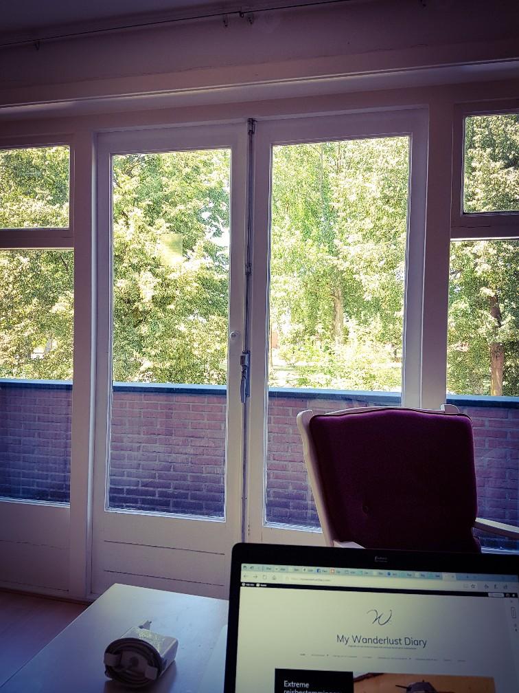Thuis werken groene werkplek
