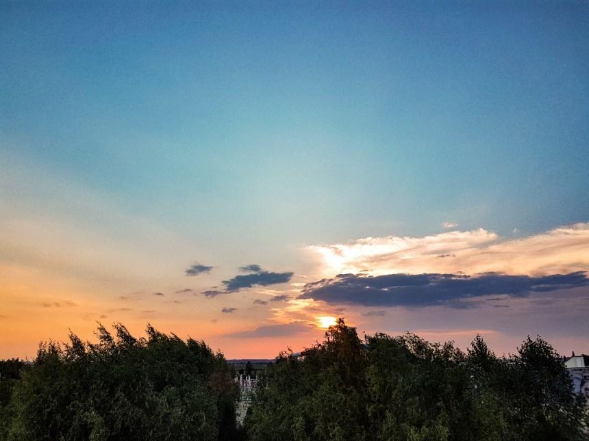 boekarest Roemenië zonsondergang