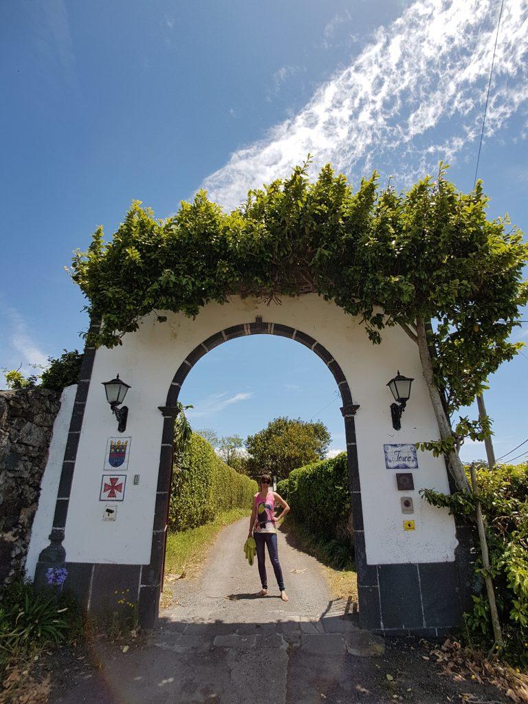 Quinta da Terca paardrijden Sao Miguel Azoren Portugal entree