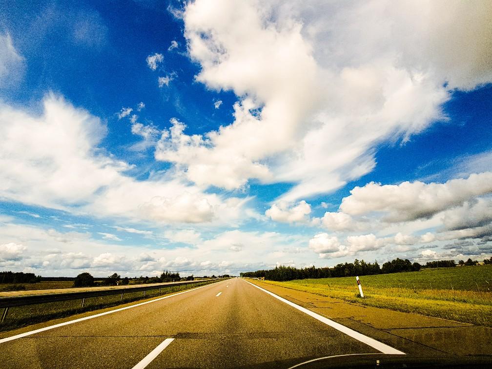 Snelweg van Riga naar Vilnius