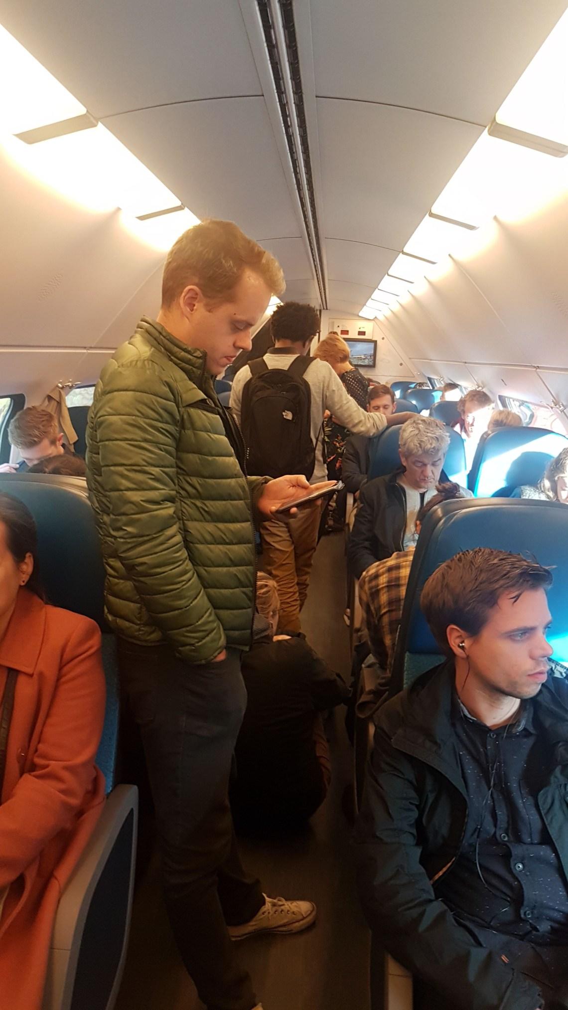 ns drukte in de trein