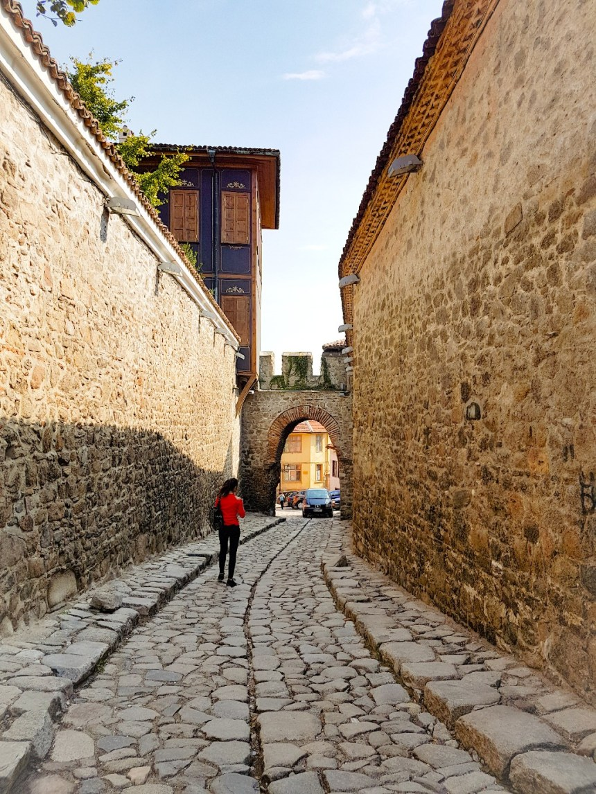 Plovdiv Bulgarije stadsmuur klinkerweg