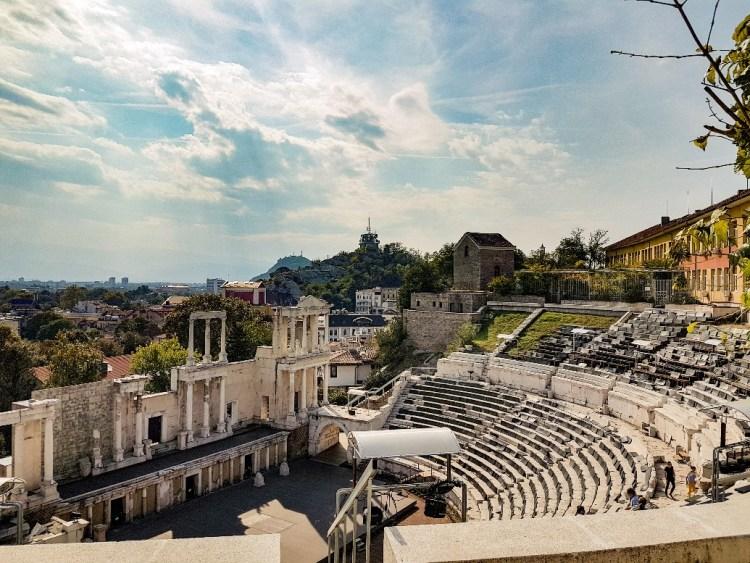 Romeins amfitheater Plovdiv Bulgarije
