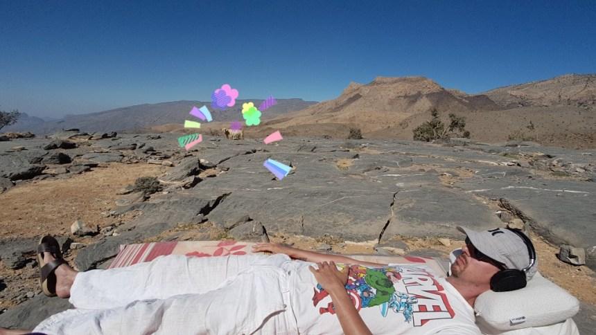 Geiten Jebel Shams wildkamperen Oman
