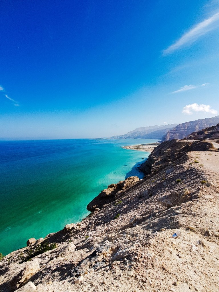kust kamperen Dhofar regio Oman