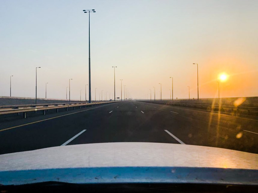 Lege wegen hoofdstad Muscat Oman