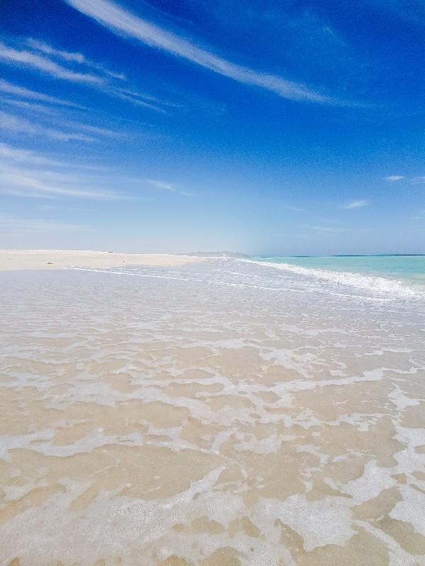 Ras Madrakah beach Oman wildkamperen