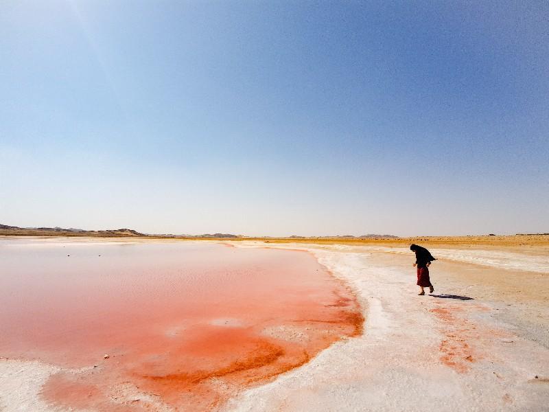 Roze zout lagune Oman
