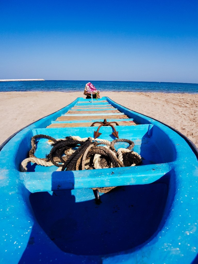 Sur vissersboot Oman