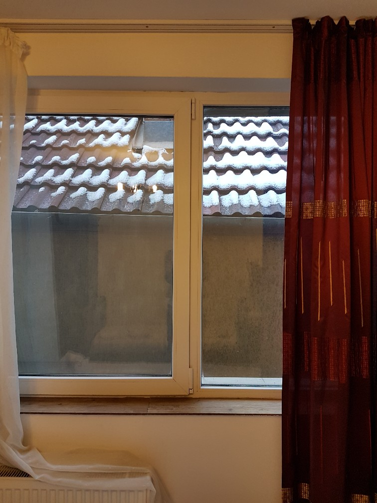 Hotel Roemenië uitzicht muur