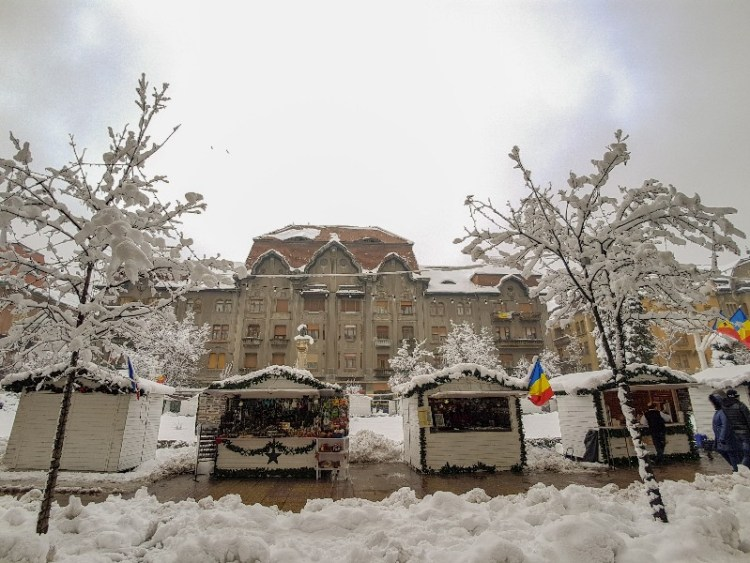 kerstmarkt Timisoara Roemenië