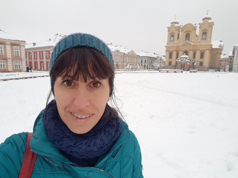 Timisoara Roemenië in de winter