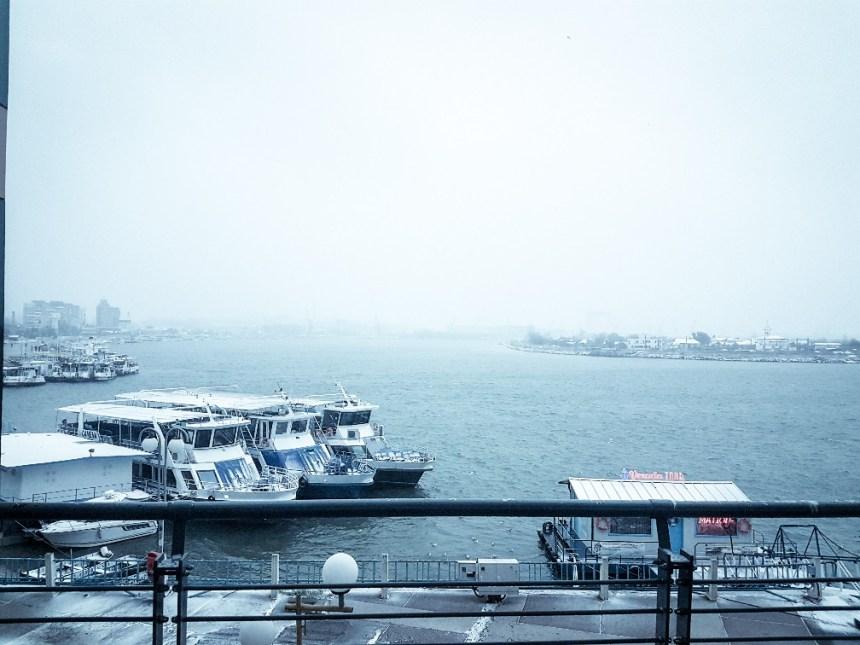 winterweer sneeuw Roemenië Donau (2)