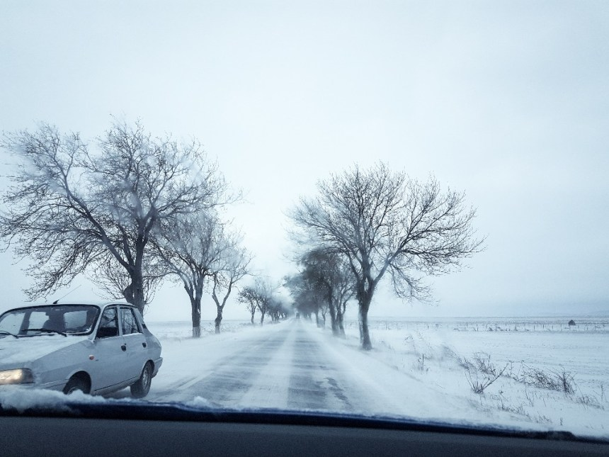 winterweer sneeuw Roemenië Donau (4)